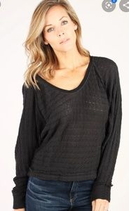 Free people washed black thenis Hanci top